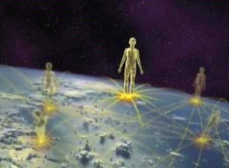 Lichtarbeiter auf der Erde verteilt