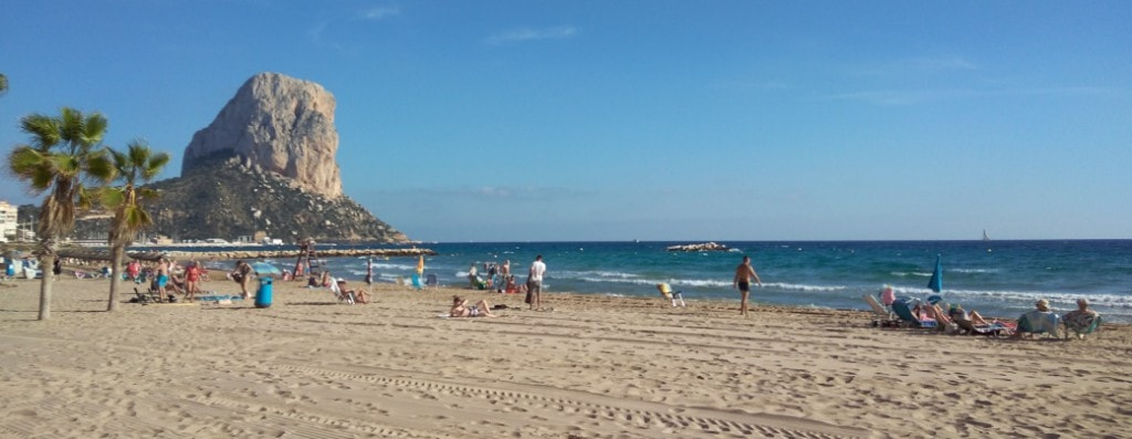 Beach Abschnitt Calpe / Spanien